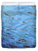 Turquoise And Blue Swirls Large Canvas Duvet Cover