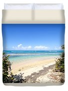 Turquoise Beach Hideaway In Vieques Duvet Cover