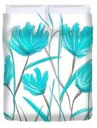 Turquoise Bloom Duvet Cover