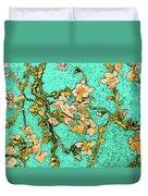 Turquoise Blossom Duvet Cover