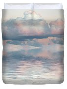 Turquoise Moon Rise Duvet Cover