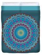 Turquoise Necklace Mandala Duvet Cover