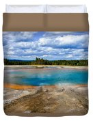 Turquoise Pool, Yellowstone Duvet Cover