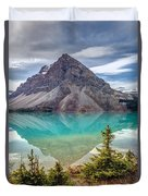Turquoise Reflection At Bow Lake Duvet Cover