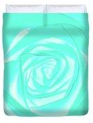 Turquoise Rose Duvet Cover