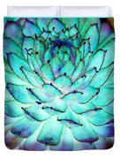 Turquoise Succulent 1 Duvet Cover