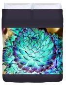 Turquoise Succulent 2 Duvet Cover