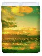 Turquoise Sunrise Duvet Cover