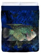Turquoise Texas Cichlid  Duvet Cover