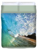 Turquoise Wave Tube Duvet Cover