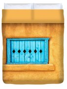 Turquoise Window Shutter Duvet Cover