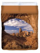 Turret Arch And North Window Duvet Cover