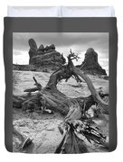Turret Arch - Bw Duvet Cover
