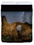 Turret Arch Milkyway, Arches National Park, Utah Duvet Cover