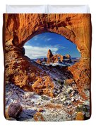 Turret Arch Through North Window Arches National Park Utah Duvet Cover