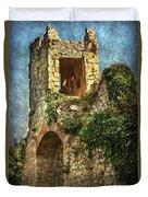 Turret At Wallingford Castle Duvet Cover