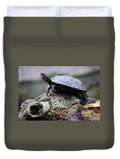 Turtle And The Hippo Duvet Cover