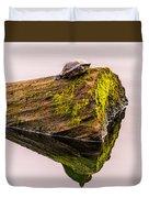 Turtle Basking Duvet Cover