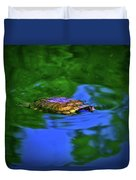 Turtle Coming Up For Air 003 Duvet Cover