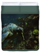 Turtle Crawl Duvet Cover