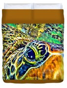 Turtle Eye Duvet Cover
