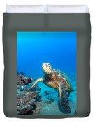 Turtle Portrait Duvet Cover
