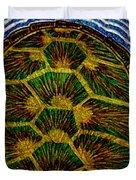 Turtle Shell Mandala Sparkle Duvet Cover