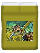 Turtle Swim Duvet Cover