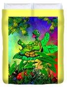 Turtle-totter Duvet Cover