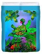 Turtle Trampoline Duvet Cover