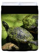 Turtle Yoga Duvet Cover