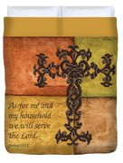 Tuscan Cross Duvet Cover by Debbie DeWitt