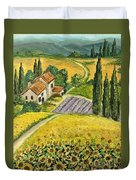 Tuscan Italy Duvet Cover