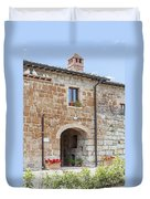 Tuscan Old Stone Building Duvet Cover
