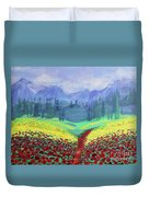 Tuscan Poppies Duvet Cover