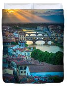Tuscan Sunbeams Duvet Cover by Inge Johnsson