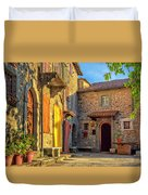Tuscan Villa Early Morning Duvet Cover