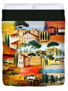 Tuscany Collage Duvet Cover