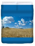 Tuscany Landscape With The Town Of Pienza, Val D'orcia, Italy Duvet Cover