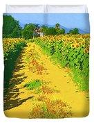 Tuscany Sunflowers Duvet Cover