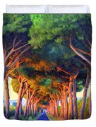 Tuscany Tree Tunnel Duvet Cover