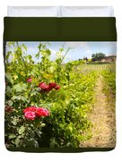 Tuscany Villa And Roses Duvet Cover