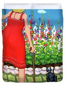 Tuxedo Cat - Edens Garden Duvet Cover