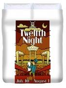 Twelfth Night Poster Duvet Cover