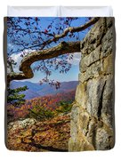 Twenty Minute Cliff Blue Ridge Parkway I Duvet Cover