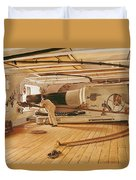 Twenty-seven Pound Cannon On A Battleship Duvet Cover
