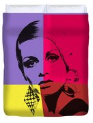 Twiggy Pop Art 1 Duvet Cover
