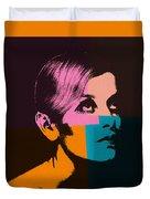 Twiggy Pop Art 2 Duvet Cover