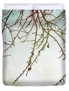 Twigs And Winter Sky Two Duvet Cover