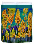 Twilight Aspens Duvet Cover